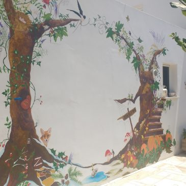 The Wall of Enchantment. Circle of the Seasons fairytale wall.