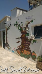 Finished mural. Circle of the Seasons. Fairytale wall.